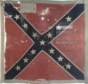 Original battle flag captured at Gettysburg