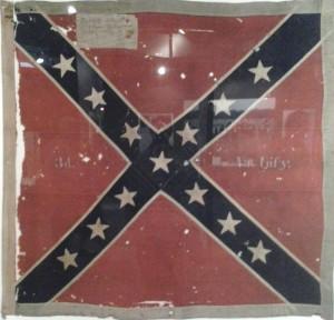 Original battle flag captured at Gettysburg